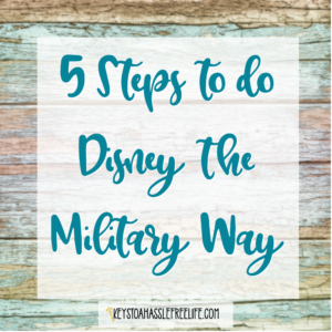 5 steps to Do Disney World the Military Way